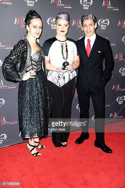 Isabel Toledo Kelly Osbourne and Ruben Toledo attend the 2015 AAFA American Image Awards on April 27 2015 in New York City