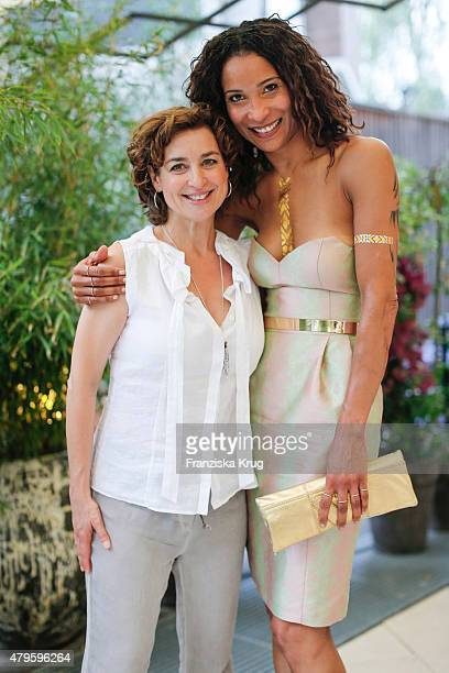 Isabel Varell and Annabelle Mandeng attend the Wanawake Ladies Dinner at Hotel Zoo on July 05 2015 in Berlin Germany