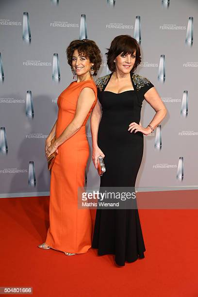 Isabel Varell and Birgit Schrowange attend the German Television Award at Rheinterrasse on January 13 2016 in Duesseldorf Germany
