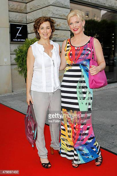 Isabel Varell and Eva Habermann attend the Wanawake Ladies Dinner at Hotel Zoo on July 05 2015 in Berlin Germany