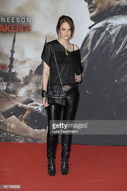 Isabel Varell attends the '96 Hours Taken 2' Germany Premiere at Kino in der Kulturbrauerei on September 11 2012 in Berlin Germany