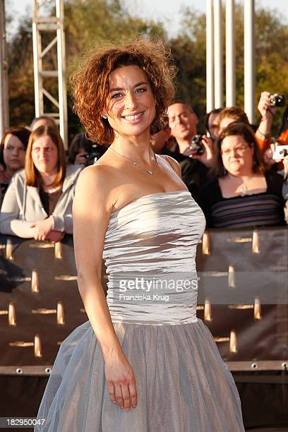 Isabel Varell attends the Deutscher Fernsehpreis 2013 Red Carpet Arrivals at Coloneum on October 02 2013 in Cologne Germany
