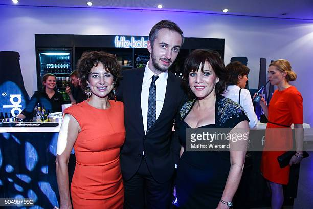 Isabel Varell Jan Boehmermann and Birgit Schrowage attend the German Television Award at Rheinterrasse on January 13 2016 in Duesseldorf Germany