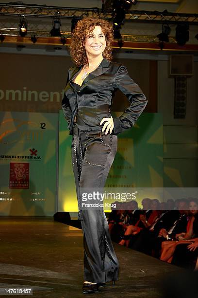 Isabel Varell shows designs on the catwalk during the charity event 'Event Prominent' at the Hotel Grand Elysee on March 25 2012 in Hamburg Germany