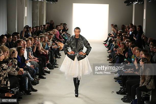 Isabel Vollrath showcases its latest Autumn/Winter 2017 Collections in the Kaufhaus Jandorf in the Brunnenstrasse in BerlinMitte during the...