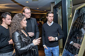 Romulo's 'Farbenspiel' Exhibition Opening In Frankfurt...