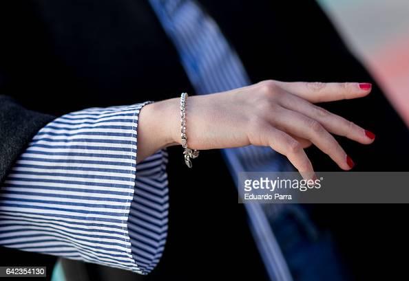 Isabel wears Zara jacket Zara shirt Pull Bear trousers and Zatroshop shoes during the Mercedes Benz Fashion Week Autumn / Winter 2017 at Ifema