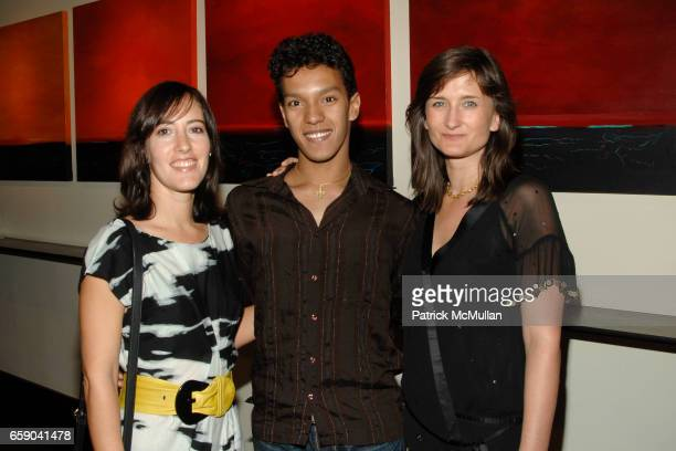 Isabela Coracy Alves Irlan Santos da Silva and Beadie Finzi attend Private Dinner in Honor of the 2008 GUCCI Tribeca Documentary Fund Recipients at...