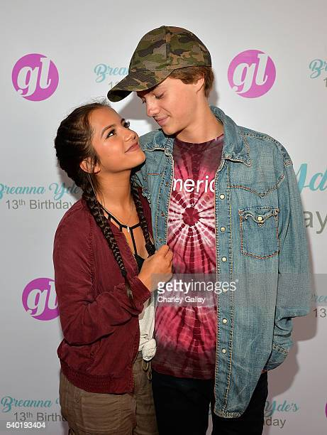 Isabela Moner and Jace Norman attend Breanna Yde's 13th Birthday Party at Lucky Strike Lanes at LA Live on June 11 2016 in Los Angeles California