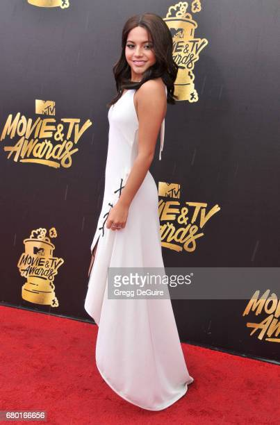 Isabela Moner arrives at the 2017 MTV Movie And TV Awards at The Shrine Auditorium on May 7 2017 in Los Angeles California