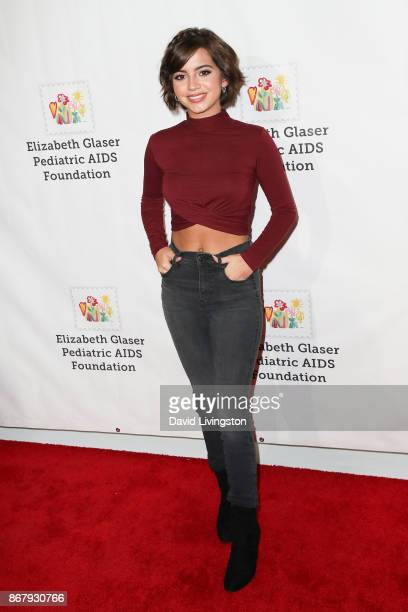 Isabela Moner attends the Elizabeth Glaser Pediatric AIDS Foundation's 28th Annual 'A Time For Heroes' Family Festival at Smashbox Studios on October...