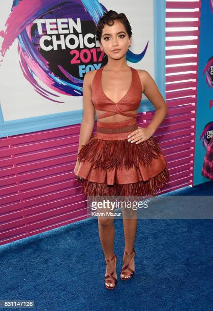 Isabela Moner attends the Teen Choice Awards 2017 at Galen Center on August 13 2017 in Los Angeles California
