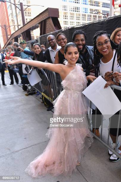 Isabela Moner signs autographs at the US premiere of 'Transformers The Last Knight' at the Civic Opera House on June 20 2017 in Chicago Illinois