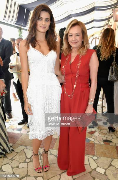 Isabeli Fontana and Caroline Scheufele attend an intimate lunch hosted by Livia Firth Carlo Capasa and Caroline Scheufele to announce Chopard as...