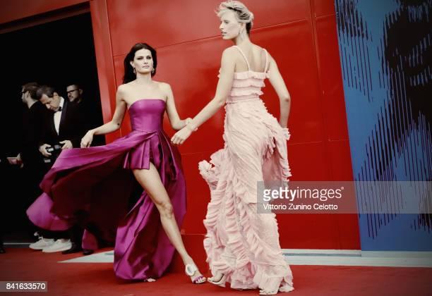 Isabeli Fontana and Karolina Kurkova attend the The 1st Franca Sozzani Award during the 74th Venice Film Festival at Sala Giardino on September 1...