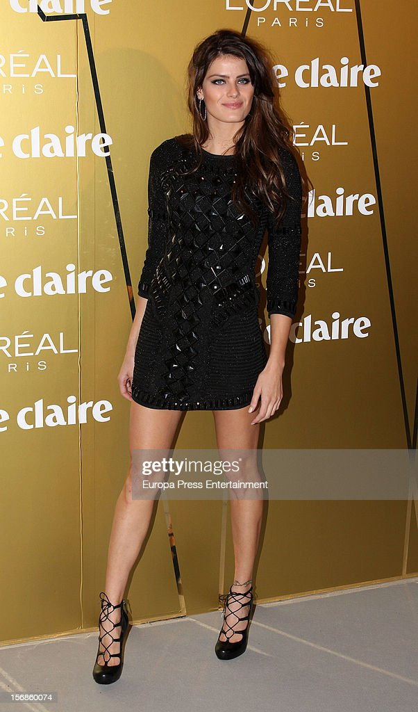 <a gi-track='captionPersonalityLinkClicked' href=/galleries/search?phrase=Isabeli+Fontana&family=editorial&specificpeople=220508 ng-click='$event.stopPropagation()'>Isabeli Fontana</a> attends Marie Claire Prix de la Moda Awards 2012 on November 22, 2012 in Madrid, Spain.