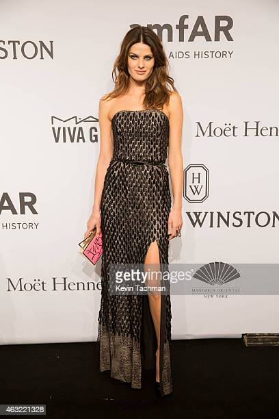 Isabeli Fontana attends the 2015 amfAR New York Gala at Cipriani Wall Street on February 11 2015 in New York City