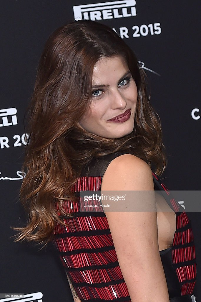 <a gi-track='captionPersonalityLinkClicked' href=/galleries/search?phrase=Isabeli+Fontana&family=editorial&specificpeople=220508 ng-click='$event.stopPropagation()'>Isabeli Fontana</a> attends the 2015 Pirelli Calendar Red Carpet on November 18, 2014 in Milan, Italy.