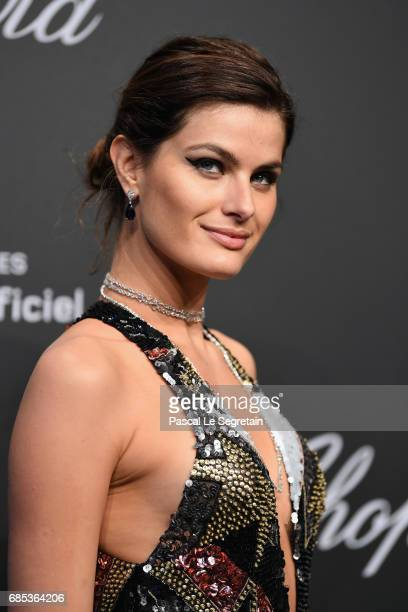 """Isabeli Fontana attends the Chopard """"SPACE Party"""" hosted by Chopard's copresident Caroline Scheufele and Rihanna at Port Canto on May 19 in Cannes..."""