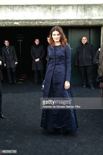 Isabeli Fontana attends the Dior Homme Menswear Fall/Winter 20152016 show as part of Paris Fashion Week on January 24 2015 in Paris France