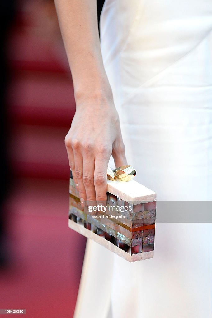 Isabeli Fontana (clutch detail) attends 'The Immigrant' Premiere during the 66th Annual Cannes Film Festival at Grand Theatre Lumiere on May 24, 2013 in Cannes, France.