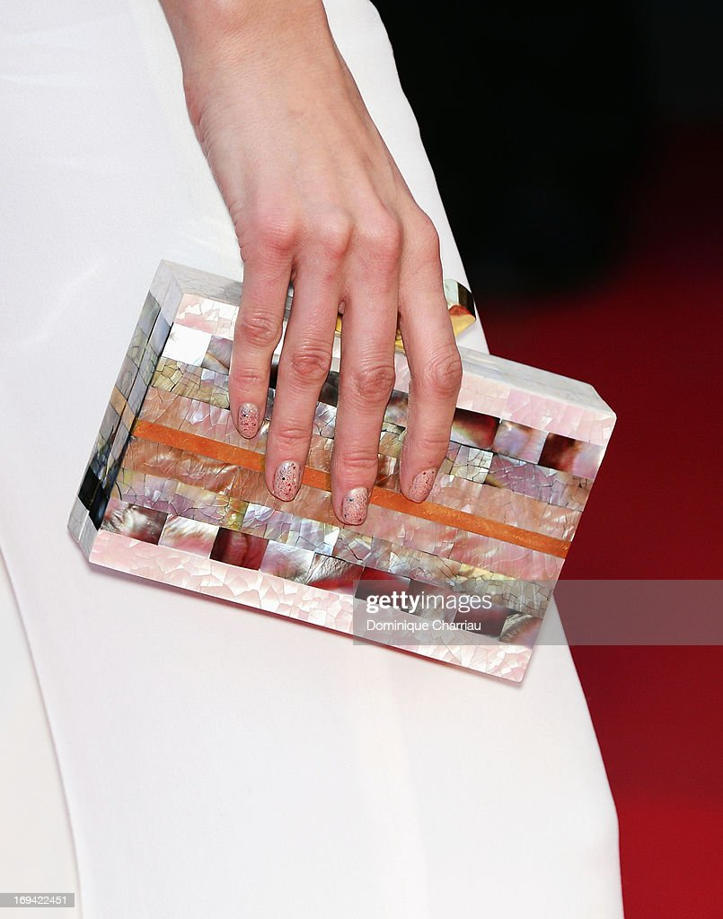 Isabeli Fontana (clutch and nail detail) attends the Premiere of 'The Immigrant' at The 66th Annual Cannes Film Festival at Palais des Festivals on May 24, 2013 in Cannes, France.