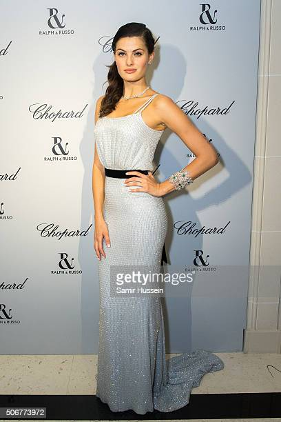 Isabeli Fontana attends the Ralph Russo and Chopard dinner during part of Paris Fashion Week on January 25 2016 in Paris France