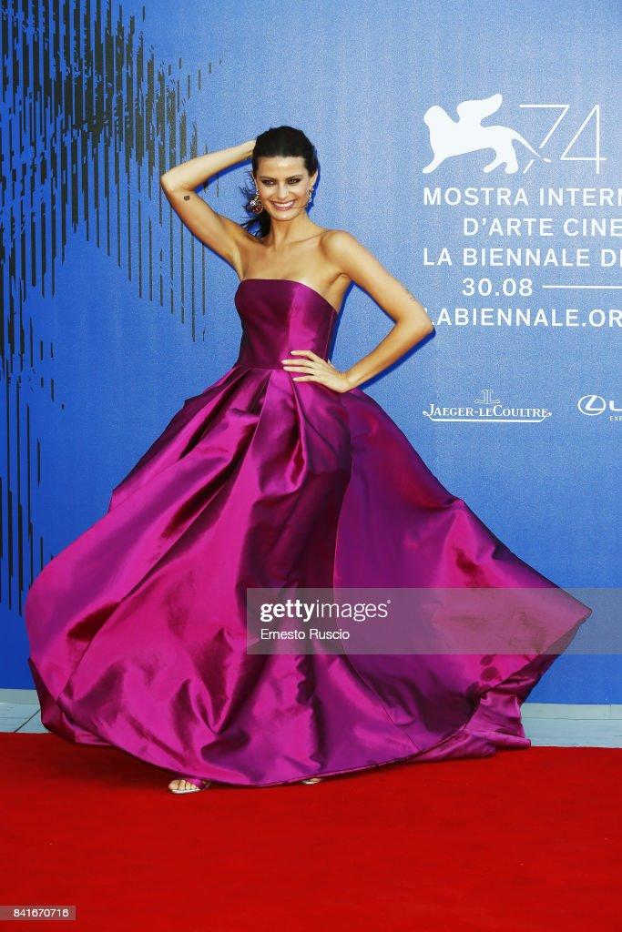 Isabeli Fontana attends the The 1st Franca Sozzani Award during the 74th Venice Film Festival at Sala Giardino on September 1, 2017 in Venice, Italy.