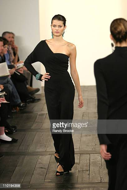 Isabeli Fontana wearing Ralph Lauren fall 2004 during Olympus Fashion Week Fall 2004 Ralph Lauren Runway at Dia Annex in New York City New York...