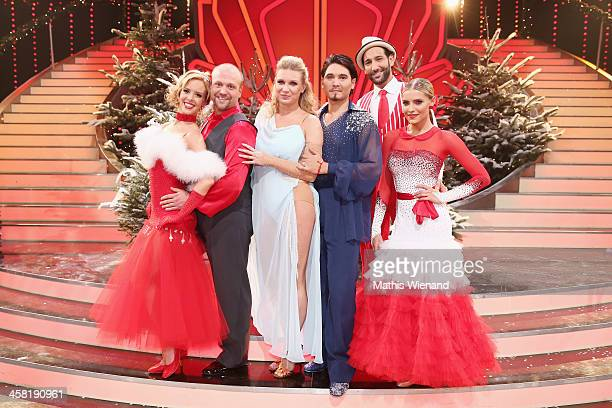 Isabell Edvardsso Moritz A Sachs magdalena Brzeska Erich Klann Massimo Sinato and Sophia Thomalla attend the 'Let's Dance Let's Christmas' Show on...