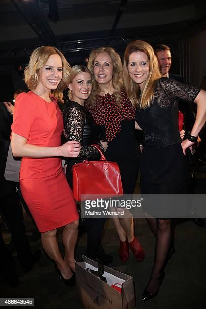 Isabell Edvardsson Jennifer Knaeble Katja Bukard and Miriam Lange attend the Thomas Rath fashion show during Platform Fashion Dusseldorf on February...