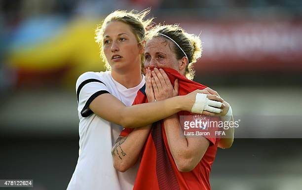 Isabell Herlovsen of Norway looks dejected after loosing the FIFA Women's World Cup 2015 Round of 16 match between Norway and England at Lansdowne...