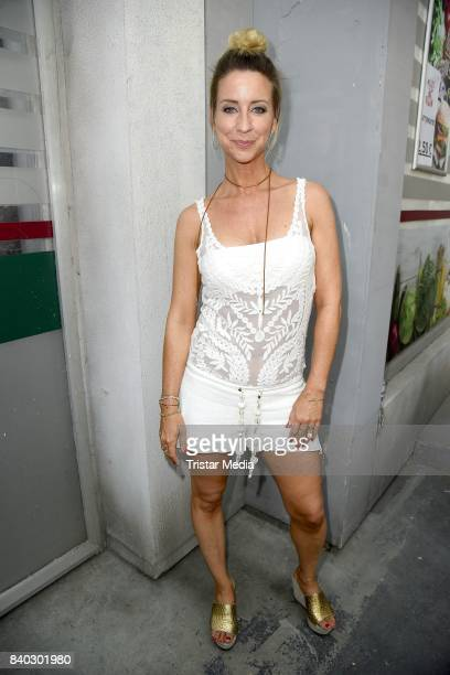Isabell Hertel attends the RTL TV series 'Unter Uns' Summer Fan Event on August 28 2017 in Cologne Germany