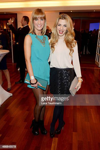 Isabell Horn and Susan Sideropoulos attend Askania Award 2014 at Kempinski Hotel Bristol on February 4 2014 in Berlin Germany