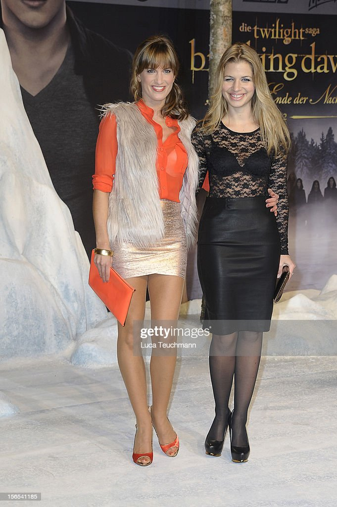 Isabell Horn and Susan Sideropoulos attend the 'Twilight Saga: Breaking Dawn Part 2' Germany Premiere at CineStar on November 16, 2012 in Berlin, Germany.