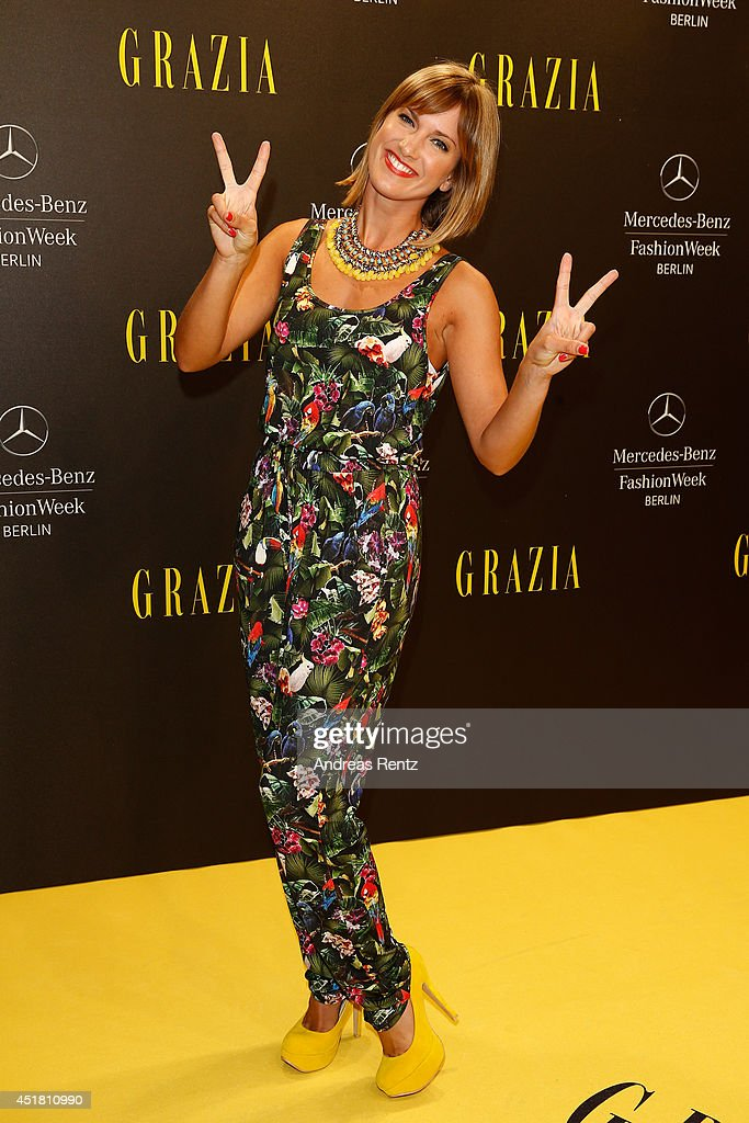 Isabell Horn arrives for the Opening Night by Grazia fashion show during the Mercedes-Benz Fashion Week Spring/Summer 2015 at Erika Hess Eisstadion on July 7, 2014 in Berlin, Germany.