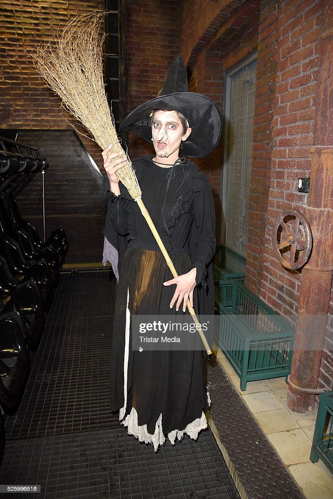 Isabell Horn as witch during the Isabell Horn Photo Call At Berlin Dungeon on April 29, 2016 in Berlin, Germany.
