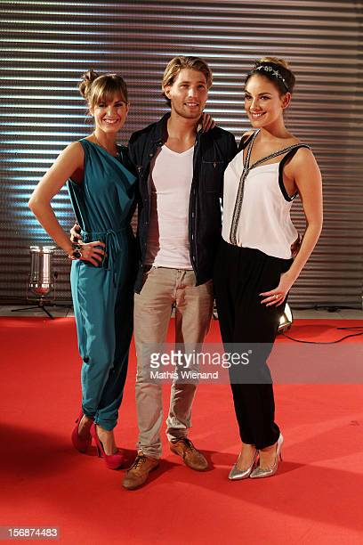 Isabell Horn Raul Richter and Anne Menden attend the 'RTL Spendenmarathon' at RTL Studios on November 23 2012 in Cologne Germany