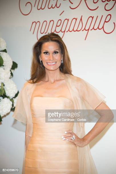 Isabell Kristensen attends the 69th Monaco Red Cross Ball Gala at Sporting MonteCarlo on July 28 2017 in MonteCarlo Monaco