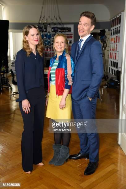 Isabell Polak August Wittgenstein and Birte Hanusrichter during 'Jenny Echt gerecht' RTL TV series Set Visit In Berlin on July 13 2017 in Berlin...