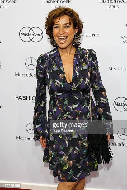 Isabell Varell attends the Riani show during the MercedesBenz Fashion Week Berlin Spring/Summer 2016 at Brandenburg Gate on July 7 2015 in Berlin...
