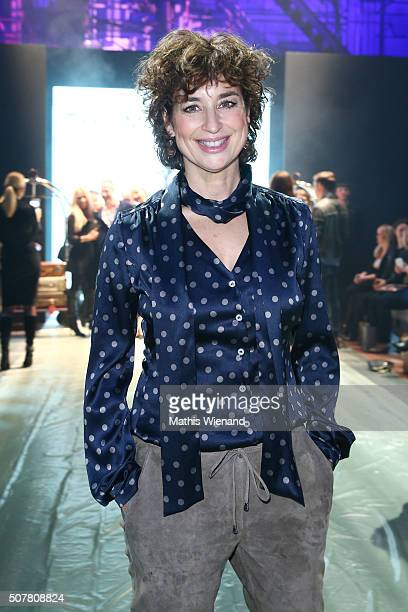 Isabell Varell attends the Thomas Rath show during Platform Fashion January 2016 at Areal Boehler on January 31 2016 in Duesseldorf Germany