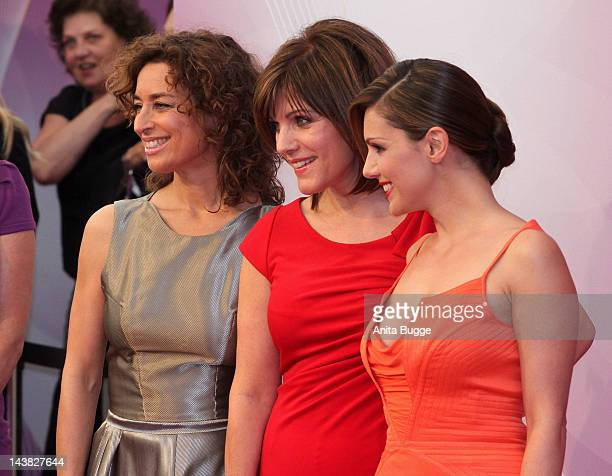 Isabell Varell Birgit Schrowange and Nazan Eckes attends the 'Duftstars Awards 2012' at Tempodrom on May 4 2012 in Berlin Germany