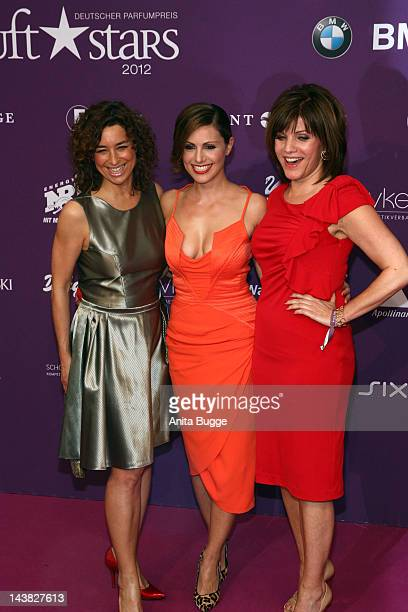 Isabell Varell Nazan Eckes and Birgit Schrowange attends the 'Duftstars Awards 2012' at Tempodrom on May 4 2012 in Berlin Germany