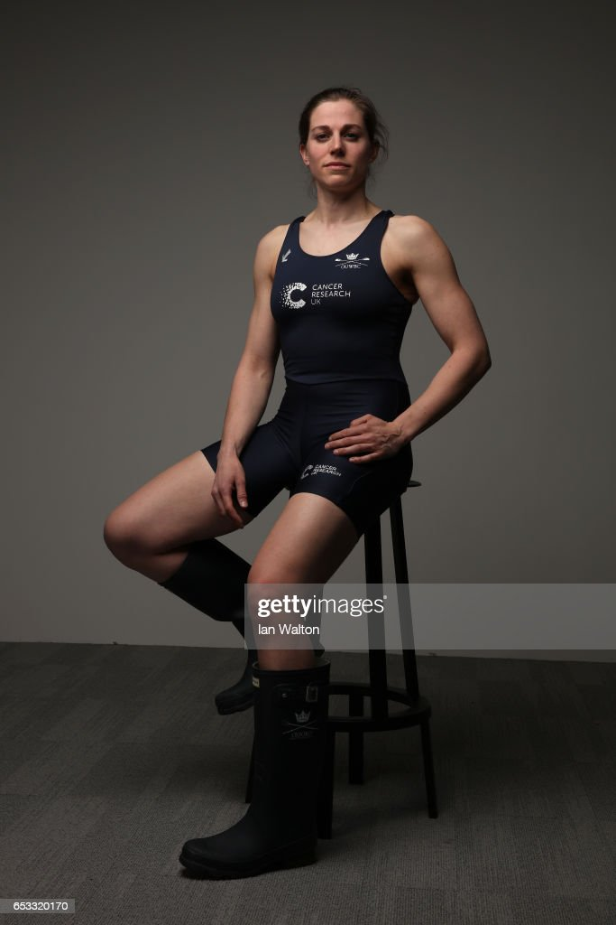 Isabell Von Loga of Oxford poses after the women's crew announcement for the 2017 Cancer Research UK University Boat Races at Francis Crick Institute on March 14, 2017 in London, England.