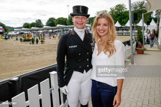 Isabell Werth and Susan Sideropoulos during the Balve Optimum International Horse Show on June 10 2017 in Balve Germany