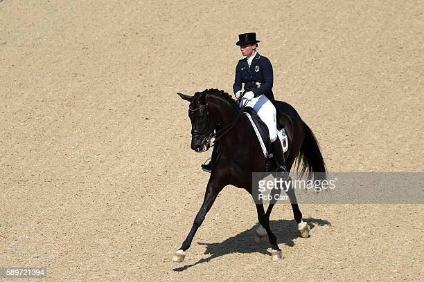 Isabell Werth of Germany riding Weihegold Old competes in the Dressage Individual Grand Prix Freestyle on Day 10 of the Rio 2016 Olympic Games at...