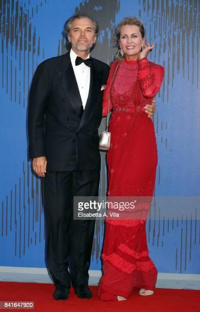Isabella Borromeo and Ugo Brachetti Peretti attend the Franca Sozzanzi Award during the 74th Venice Film Festival on September 1 2017 in Venice Italy