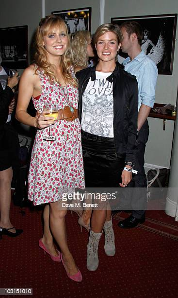 Isabella Calthorpe and Caroline Haines backstage after the west end production of 'Dirty Dancing' at the Aldwych Theatre on July 282010 in...
