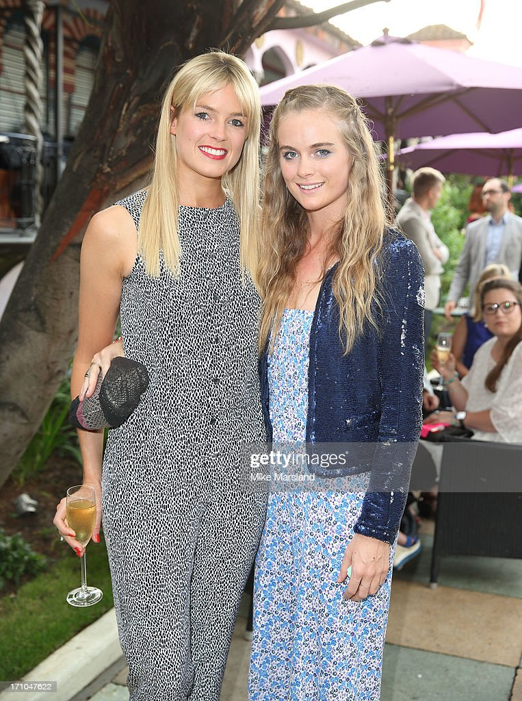 Isabella Calthorpe and <a gi-track='captionPersonalityLinkClicked' href=/galleries/search?phrase=Cressida+Bonas&family=editorial&specificpeople=8550831 ng-click='$event.stopPropagation()'>Cressida Bonas</a> attend the annual pre-Wimbledon party at Kensington Roof Gardens on June 20, 2013 in London, England.